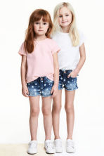 2-pack short-sleeved tops - Light pink -  | H&M 1