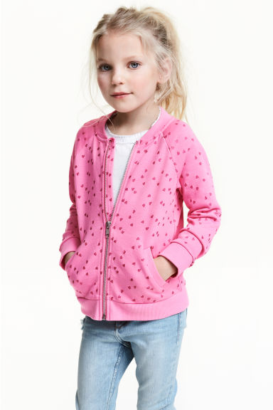 Bomber jacket - Cerise/Heart - Kids | H&M