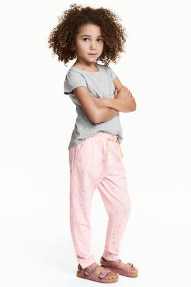 Harem pants - Light pink/Heart -  | H&M CN 1