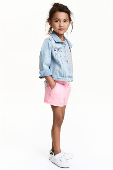 Short en jersey - Rose chiné - ENFANT | H&M FR