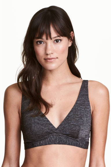 2-pack non-wired bras - Dark grey - Ladies | H&M