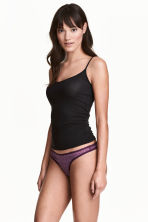3-pack thong briefs - Dark purple marl - Ladies | H&M CN 1