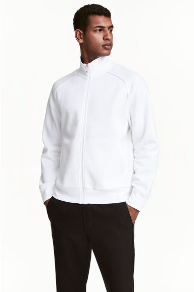 Zipped cardigan - White -  | H&M CA 1
