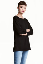 Long-sleeved jersey top - Black - Ladies | H&M 1