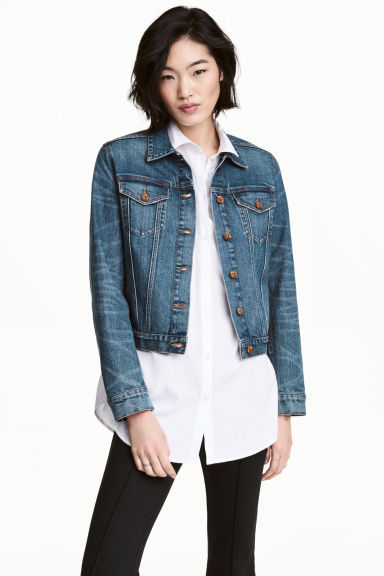 Denim jacket - Dark denim blue - Ladies | H&M 1
