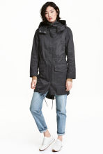 Hooded parka - Black -  | H&M IE 1