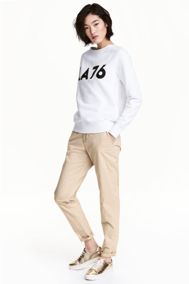 Chinos - Light beige - Ladies | H&M