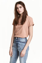 T-shirt with a motif - Beige - Ladies | H&M GB 1
