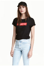 T-shirt with a motif - Black - Ladies | H&M CN 1