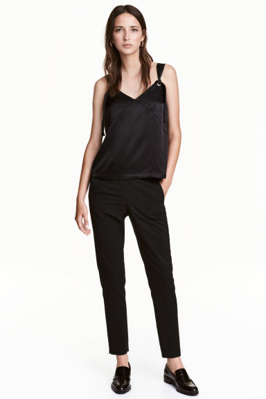 Pull-on trousers - Black - Ladies | H&M 1