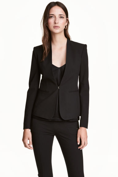 Fitted jacket - Black - Ladies | H&M CN 1