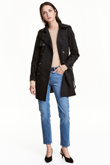 Trench corto - Nero - DONNA | H&M IT 1