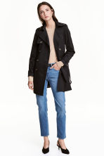 Short trenchcoat - Black - Ladies | H&M 1