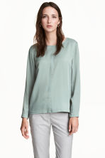 Satin blouse - Grey - Ladies | H&M 1