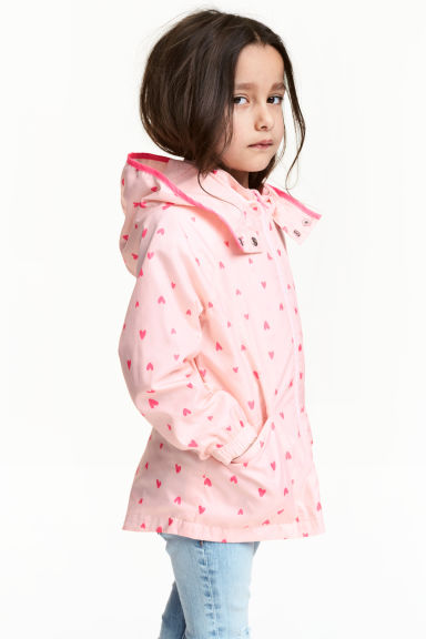 Windproof jacket - Light pink/Heart - Kids | H&M 1