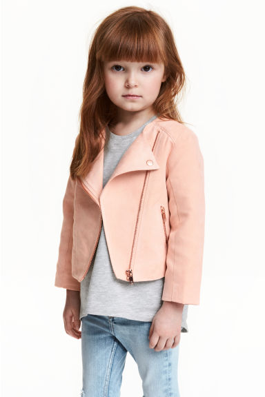 Biker jacket - Powder pink - Kids | H&M 1