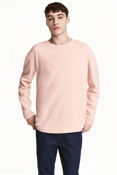 Wide sweatshirt - Light apricot - Men | H&M