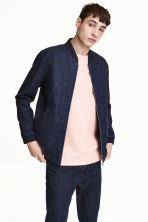 Denim bomber jacket - Dark denim blue - Men | H&M 1
