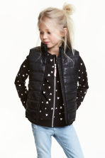 Padded gilet - Black - Kids | H&M CN 1