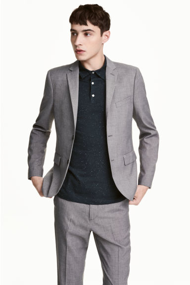 Jacket Slim fit - Grey - Men | H&M IE 1
