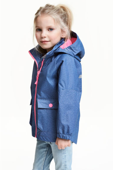 Shell parka - Blue -  | H&M 1