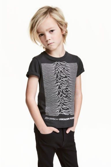 Printed T-shirt - Dark grey/Joy Division - Kids | H&M CN