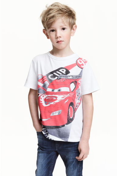 圖案T恤 - White/Cars - Kids | H&M