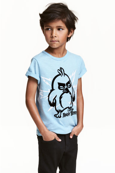Printed T-shirt - Light blue/Angry Birds - Kids | H&M CN 1
