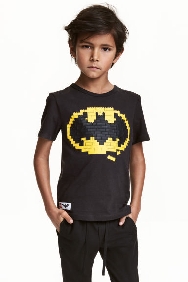 Printed T-shirt - Black/Lego - Kids | H&M CN 1