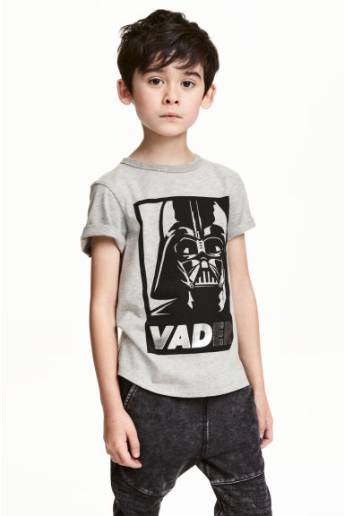 Printed T-shirt - Grey/Star Wars - Kids | H&M 1