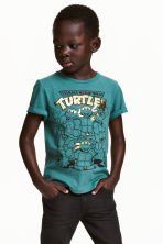 T-shirt con stampa - Turchese scuro/Turtles - BAMBINO | H&M IT 1