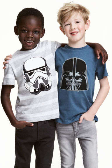 2-pack T-shirts - Blue/Star Wars - Kids | H&M CN 1