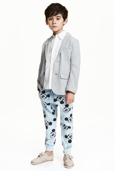 Joggers - Light blue/Mickey Mouse - Kids | H&M 1