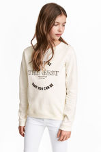 Printed sweatshirt - Natural white -  | H&M 1