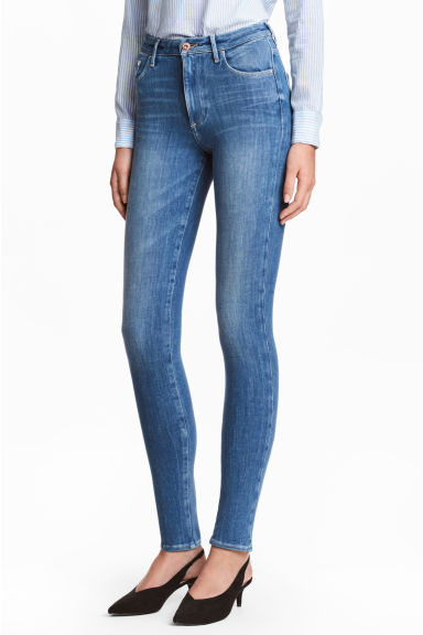 360 Shaping Skinny High Jeans - Blu denim/Washed - DONNA | H&M IT 1