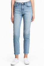 Straight High Waist Jeans - Light denim blue - Ladies | H&M 1