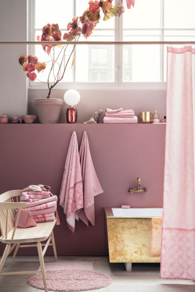 Drap de bain à motif - Rose - Home All | H&M FR 1
