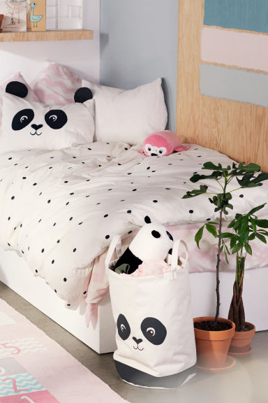 Cushion cover with ears - White/Panda - Home All | H&M CN 1