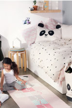 Cotton rug with a motif - Light pink/Panda - Home All | H&M CN 1