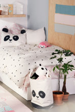 Spot-print duvet cover set - White/Panda - Home All | H&M CN 1