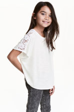 Wide top - White - Kids | H&M CN 1