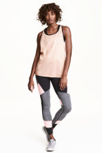 Sports tights - Black/Light pink - Ladies | H&M 1