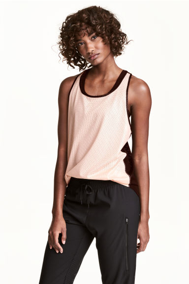 Sports vest top - Powder pink - Ladies | H&M 1