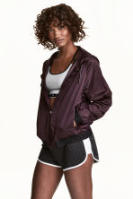 Sports jacket with a hood - Plum - Ladies | H&M 1