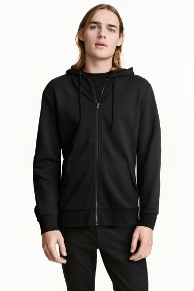 Hooded jacket - Black - Men | H&M CN