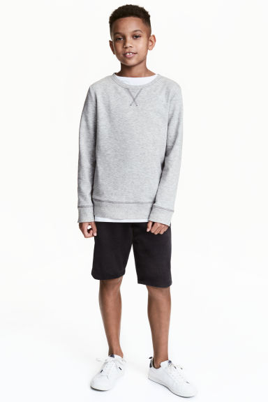 Sweatshirt shorts - Black - Kids | H&M CN 1