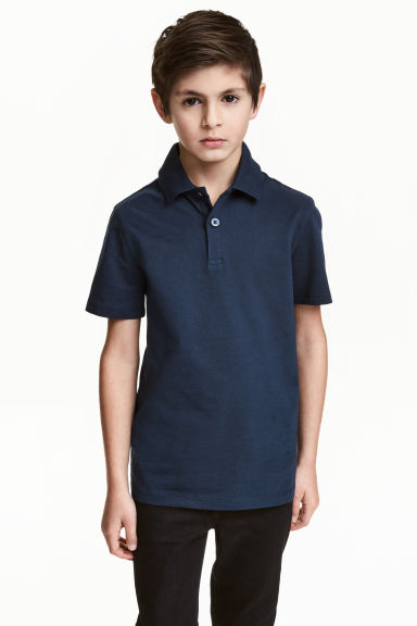 Polo shirt - Dark blue - Kids | H&M CN 1