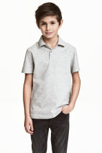 Polo shirt - Light grey marl - Kids | H&M 1