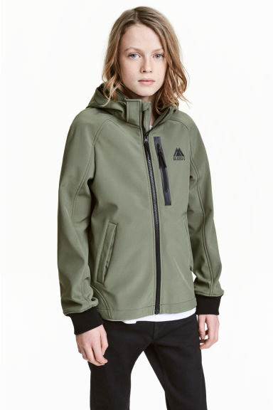 Softshell jacket - Khaki green - Kids | H&M 1