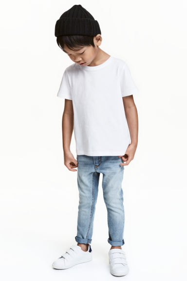 Reinforced Skinny Fit Jeans - Light denim blue - Kids | H&M 1
